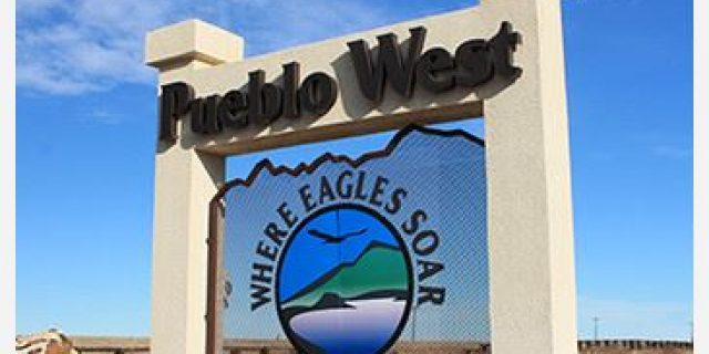 Pueblo West Sign
