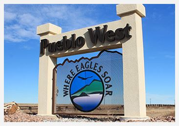 Pueblo West Sign