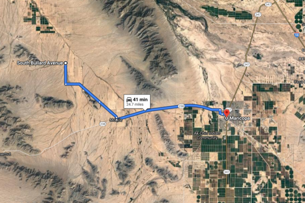 Maricopa map