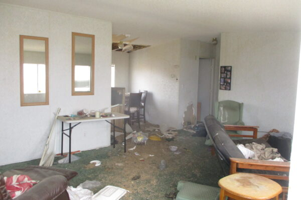The interior of the subject mobile home