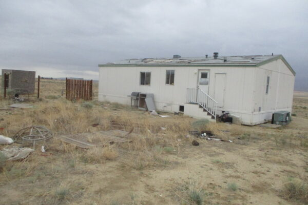 The northern side of the subject mobile home